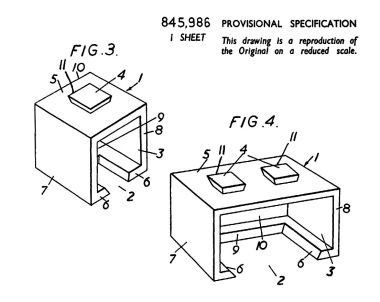 "1955: patent application drawing. Might this have inspired the 1970s ""Space Invaders"" arcade graphics?"