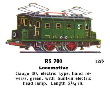 RS 700 Smaller 0-4-0 Swiss-stye pantograph electric loco