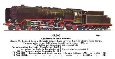 HR700 4-6-2 loco and tender