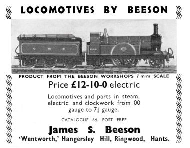 "1936: ""Locomotives by Beeson"", Stirling Single, Model Engineer Exhibition 1936"