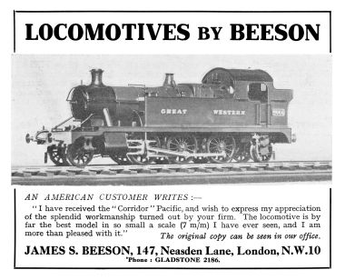"1932: ""Locomotives by Beeson"""