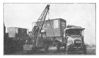 1929: Crane Loading A GWR Container Onto A GWR Lorry