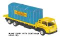 Lorry with Container Load, Minic Motorways M1547 (TriangRailways 1964).jpg