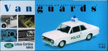 "Lotus Cortina MkII Police Car, ""Vanguards"" series"