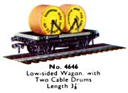 Low-sided Wagon with Cable Drums, Hornby Dublo 4646 (DubloCat 1963).jpg