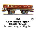 Low Sided Open Goods Truck, 00 gauge, Märklin 364 (Marklin00CatGB 1937).jpg