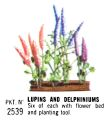 Lupins and Delphiniums, Britains Floral Garden 2530 (Britains 1966).jpg