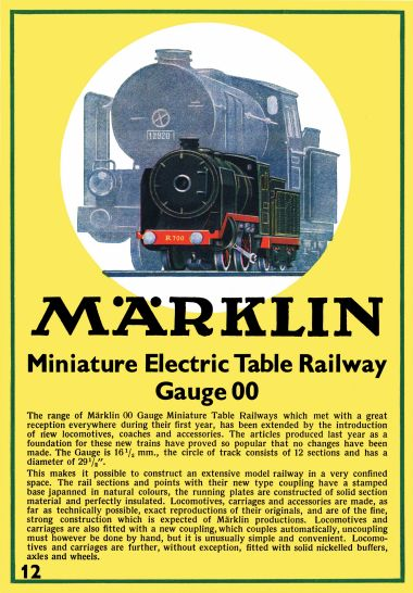1936: Märklin Miniature Electric Table Railway