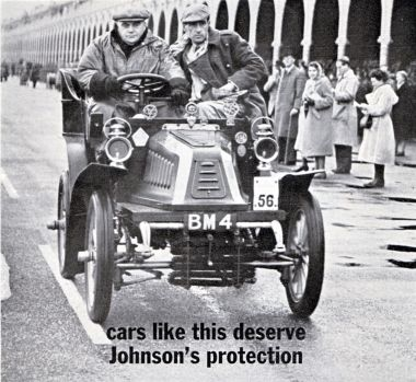 "1964: Madeira Drive: Johnson's Wax advert: ""Cars like this deserve Johnson's protection"""