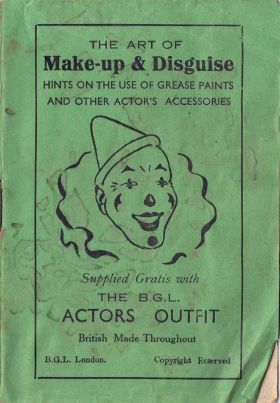 Makeup and Disguise, clown face