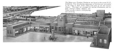 Trix Manyways display at the British Industries Fair, in 1938 or 1939