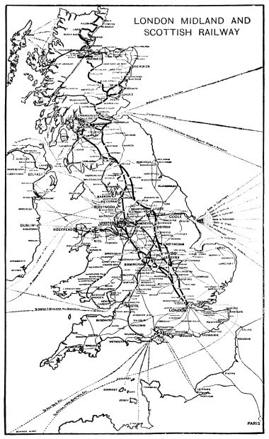 1926: Map of LMS routes and sea connections