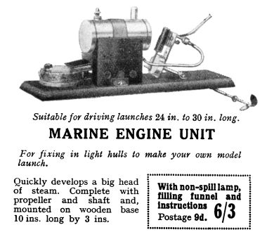 1933: Bowman Marine Engine Unit, available separately