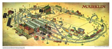 1931: Märklin model railway layout poster, with product key