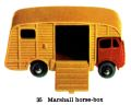 Marshall Horse Box, Matchbox No35 (MBCat 1959).jpg
