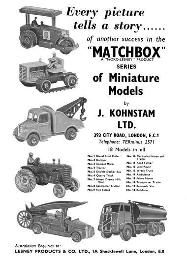 Display for Matchbox classic car and truck Matchbox Series Moko-Lesney