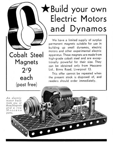 "1939: ""Build your own Electric Motors and Dynamos"""