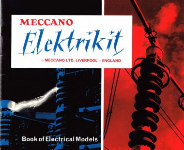 Front cover of the Elektrikit manual, The Meccano Elektrikit Book of Models