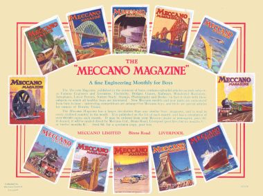 "~1930s advert for ""The Meccano Magazine"""