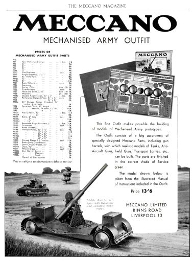 1940: Meccano Mechanised Army Outfit, Meccano Magazine