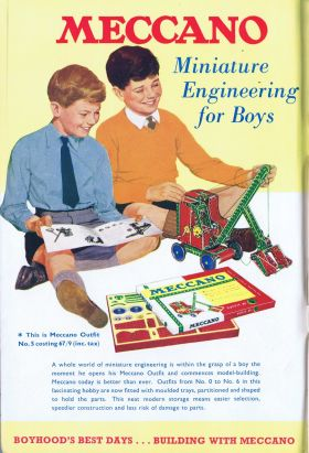 "1960: Colour advert, ""Meccano Miniature Engineering for Boys"""