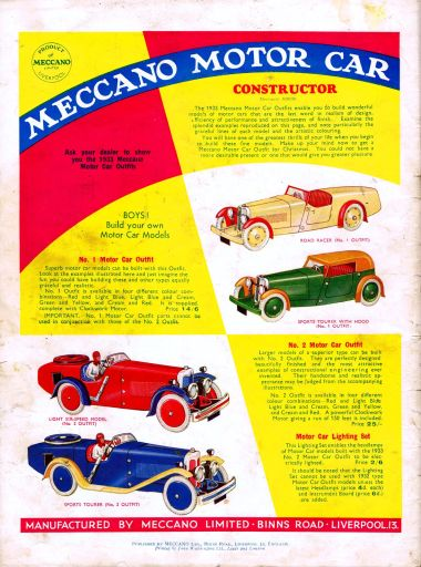 Full-page colour advert, October 1933
