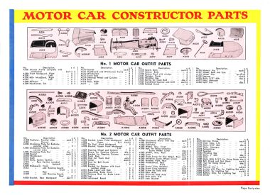 Special parts for the Motor Car Constructor outfits (1935)