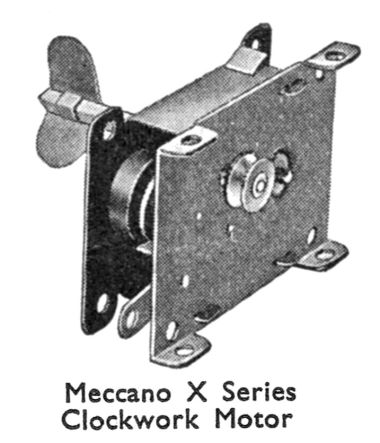 "The Meccano X Series Clockwork Motor (which later became the Meccano ""Magic Motor"")"