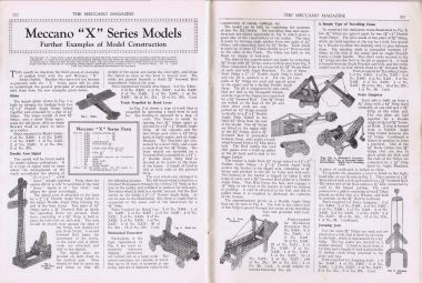 "Meccano ""X""-Series Models: Further Examples of Model Construction"", Meccano Magazine, March 1933"