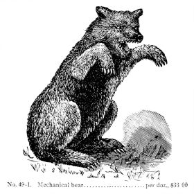 1892: Fierce mechanical bear toy