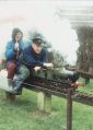 Michael Gilkes and Audrey Gilkes, riding locomotive GWR 2253 at Hove Park.jpg