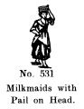 Milkmaids with Pail on head, Britains Farm 531 (BritCat 1940).jpg