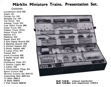 1936: Miniature Trains Presentation Set SLR 742 G