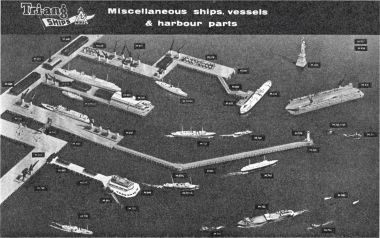 1962: Minic Ships: Miscellaneous ships, vessels and harbour parts