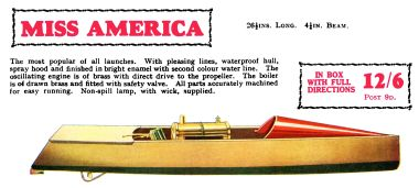 1930: Miss America steam launch, Hobbies Annual