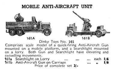 1939: Mobile Anti-Aircraft Unit, Dinky Toys 161