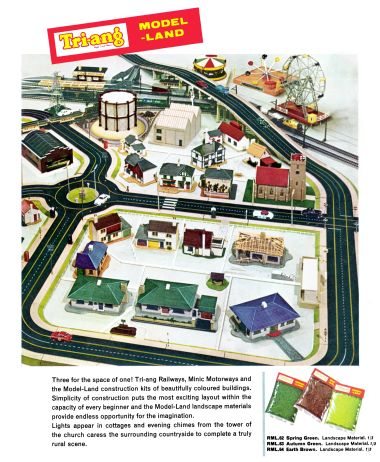 Tri-ang 'Model-Land' coloured plastic building kits (1963-)