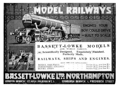 1925: Bassett-Lowke Model Railways advert