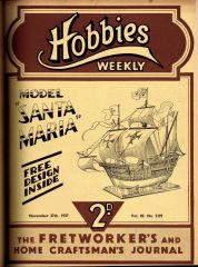 Model Santa Maria Galleon, Hobbies Weekly 2197 (HW 1937-11-27).jpg