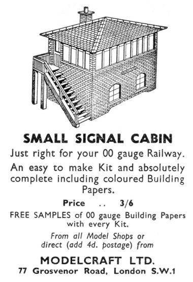 1958: Modelcraft advert in Meccano Magazine