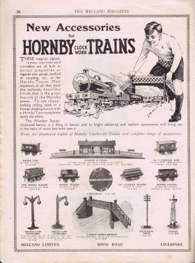 1924 advert for Hornby Series Accessories