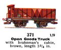 Open Goods Truck with Brakesmans Cabin, 00 gauge, Märklin 371 (Marklin00CatGB 1937).jpg