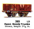 Open Goods Trucks, 00 gauge, Märklin 365 (Marklin00CatGB 1937).jpg