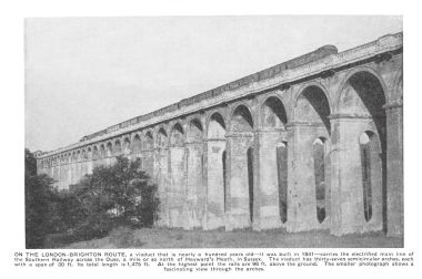 ~1935: Angled view of the Ouse Valley Viaduct