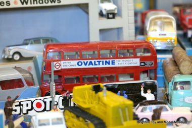 """Ovaltine"" London double-decker bus, Tri-ang Spot-On"