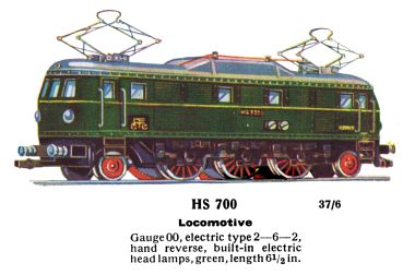 HS700 Pantograph electric 2-6-2 locomotive
