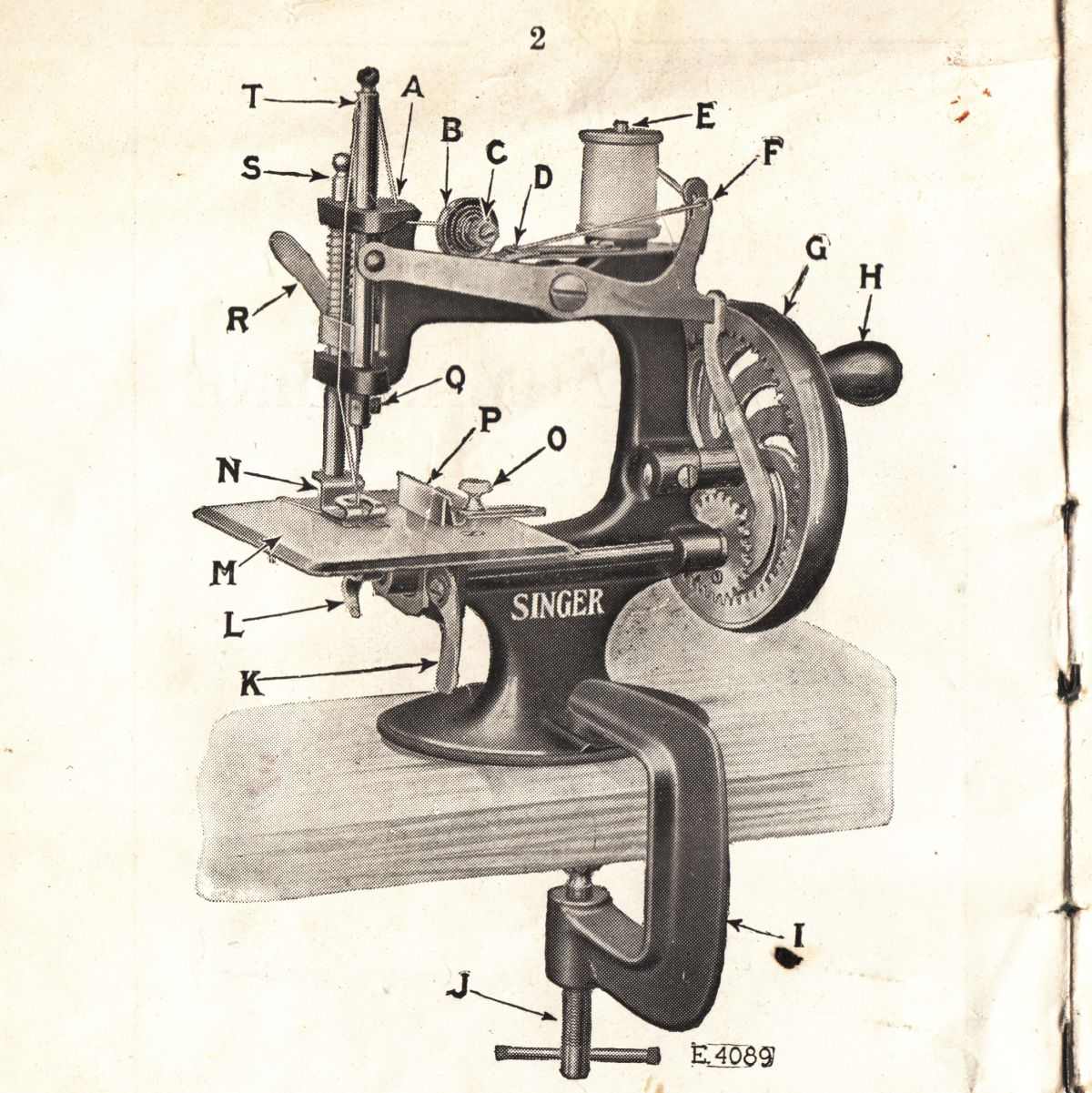Singer Model 20 Sewing Machine The Brighton Toy And