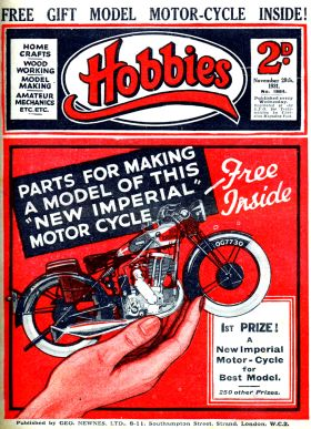 "1931: Hobbies Weekly, ""Parts for New Imperial Motorcycle"""