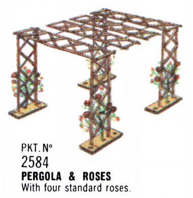 1996 catalogue image: Pergola and Roses