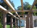 Pergolas, waiting to be covered by vines (TheLevel 2013-09-23).jpg